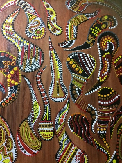 (CreativeWork) Leaves of Life  by Tinika Clifford. arcylic-painting. Shop online at Bluethumb.