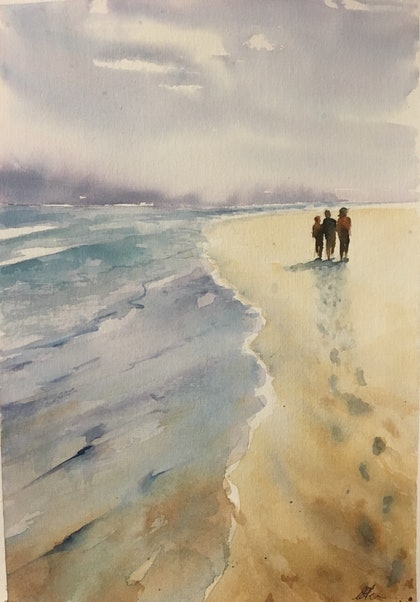 (CreativeWork) Towards the Southern Ocean by Carol Pease. watercolour. Shop online at Bluethumb.