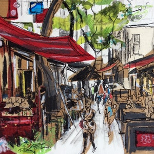 (CreativeWork) Hardware Lane by Juliet D Collins. mixed-media. Shop online at Bluethumb.