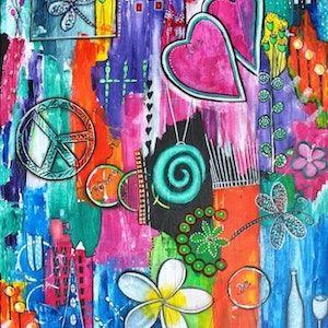 (CreativeWork) Strength of Spectrum by Astrid Rosemergy. arcylic-painting. Shop online at Bluethumb.