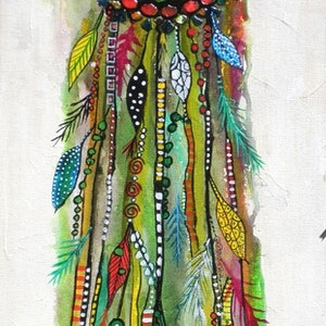 (CreativeWork) Dreamcatcher - Follow Your Heart by Astrid Rosemergy. arcylic-painting. Shop online at Bluethumb.