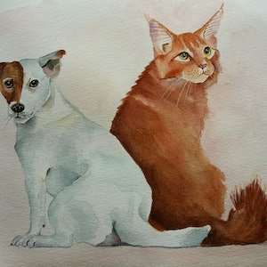 (CreativeWork) Friendship-4 by Svetlana Cook. watercolour. Shop online at Bluethumb.