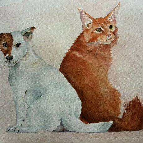 (CreativeWork) Friendship-4 by Svetlana Cook. Watercolour Paint. Shop online at Bluethumb.