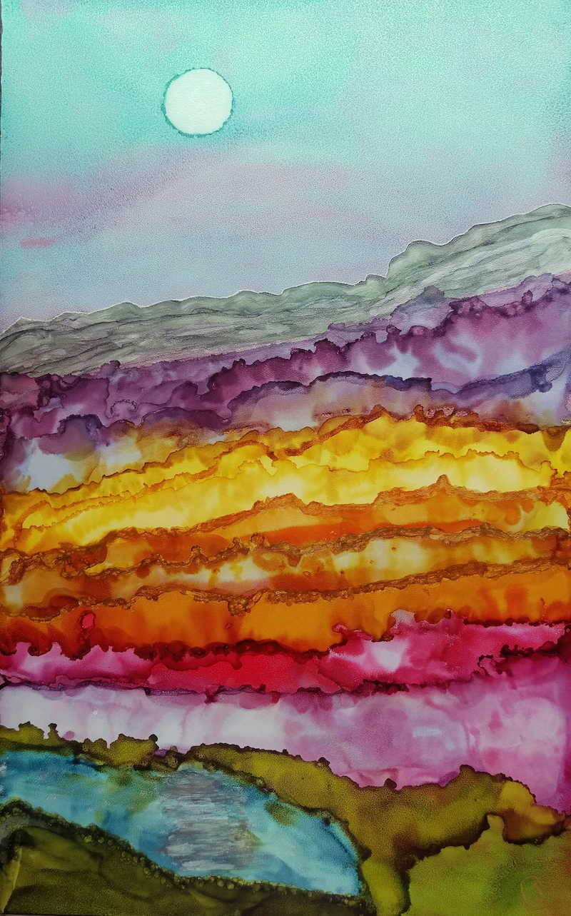 (CreativeWork) Fields Of Gold by Ruth Brunner. other-media. Shop online at Bluethumb.