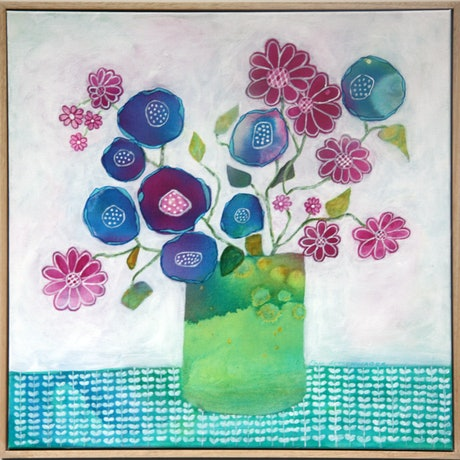 (CreativeWork) Seize the Daisy by Pam Altschwager. Mixed Media. Shop online at Bluethumb.