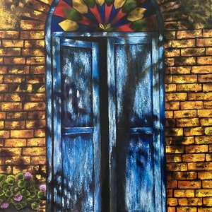 (CreativeWork) Grandma's house by atefeh hekmat. oil-painting. Shop online at Bluethumb.