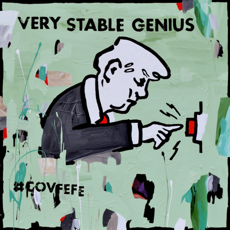 (CreativeWork) Very Stable Genius by Ben Tankard. arcylic-painting. Shop online at Bluethumb.