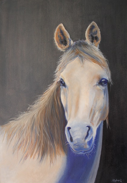 (CreativeWork) Whisper by Angie Aubert. oil-painting. Shop online at Bluethumb.