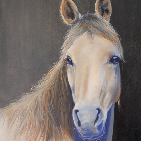 (CreativeWork) Whisper by Angie Aubert. Oil Paint. Shop online at Bluethumb.
