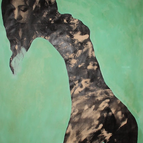 (CreativeWork) SERENE WOMAN 3-Work on paper. by DEREK ERSKINE. Mixed Media. Shop online at Bluethumb.