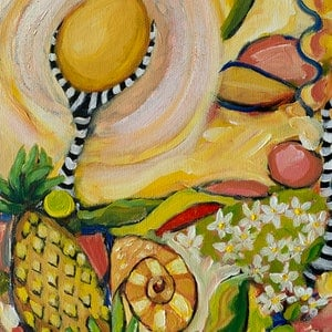 (CreativeWork) Prosperity by Wendy Bache. acrylic-painting. Shop online at Bluethumb.