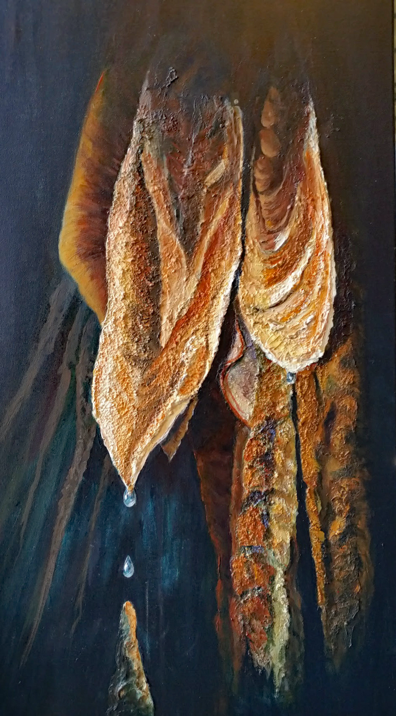 (CreativeWork) Stalactite - The Edge of Time by Pauline Johnson. arcylic-painting. Shop online at Bluethumb.
