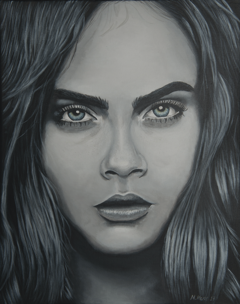 (CreativeWork) Cara by Michael Kent. arcylic-painting. Shop online at Bluethumb.