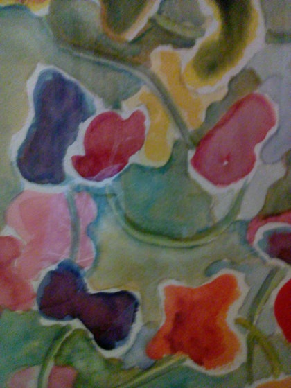 (CreativeWork) Interconnected - souls reaching out  by Lynette Carroll. watercolour. Shop online at Bluethumb.