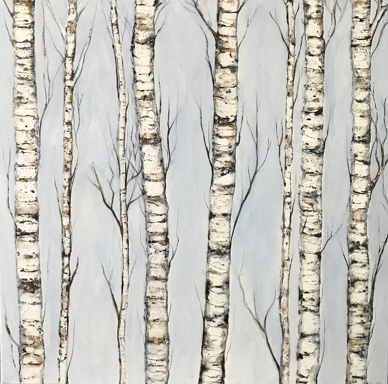 (CreativeWork) SENTINELS  #2 by LOUISE GROVE WIECHERS. arcylic-painting. Shop online at Bluethumb.