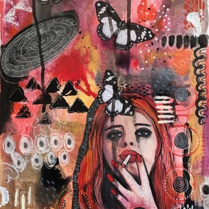 (CreativeWork) The Misfit by Julia Trembicki. mixed-media. Shop online at Bluethumb.