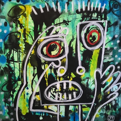 (CreativeWork) Fear by Julia Trembicki. mixed-media. Shop online at Bluethumb.