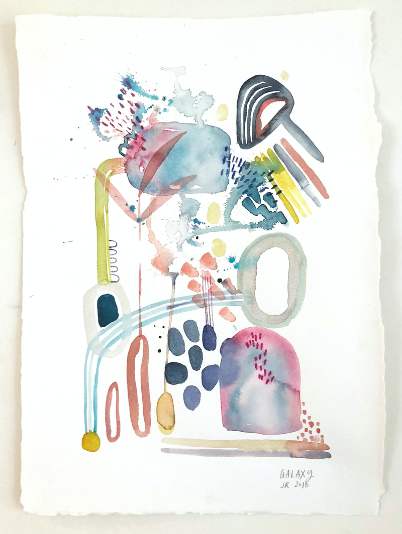 (CreativeWork) Galaxy by Jess Racklyeft. watercolour. Shop online at Bluethumb.