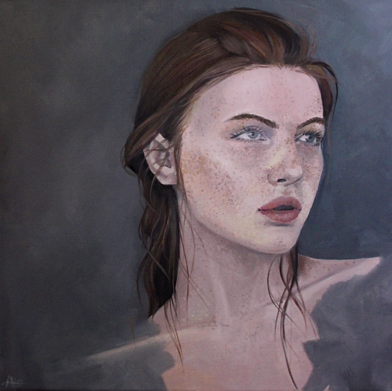 (CreativeWork) Bare by Aliss Rigby. oil-painting. Shop online at Bluethumb.