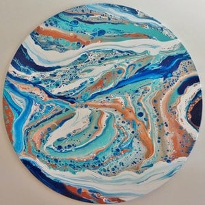 (CreativeWork) FROM THE OUTBACK TO THE SEA by Clare Riddington Jones. arcylic-painting. Shop online at Bluethumb.