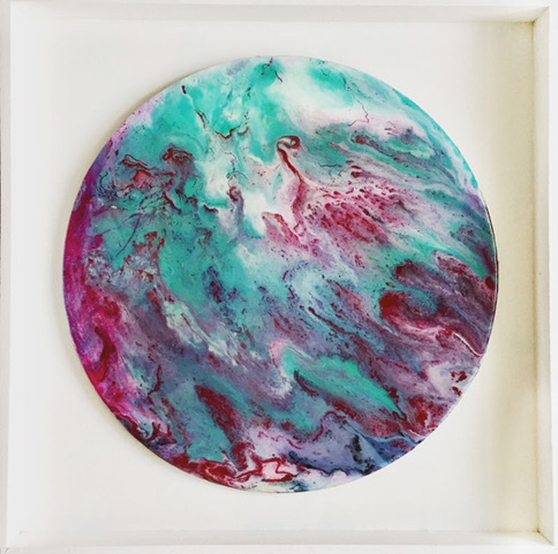(CreativeWork) Berry Mint by Patrycja Whipp. resin. Shop online at Bluethumb.