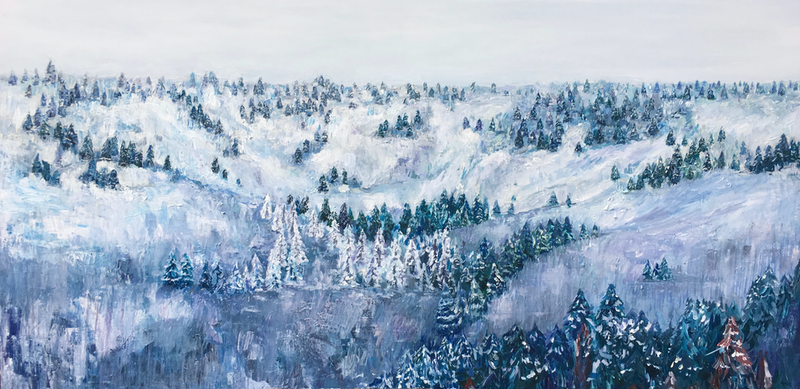 (CreativeWork) Winter by Tony Wu. arcylic-painting. Shop online at Bluethumb.