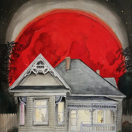 (CreativeWork) Blood Red Moon Ed. 4 of 40 by Chelle Destefano. Print. Shop online at Bluethumb.