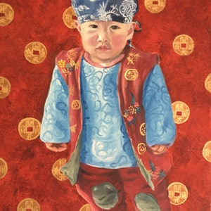 (CreativeWork) The Little Emperor  by Julia Greenham. Oil Paint. Shop online at Bluethumb.