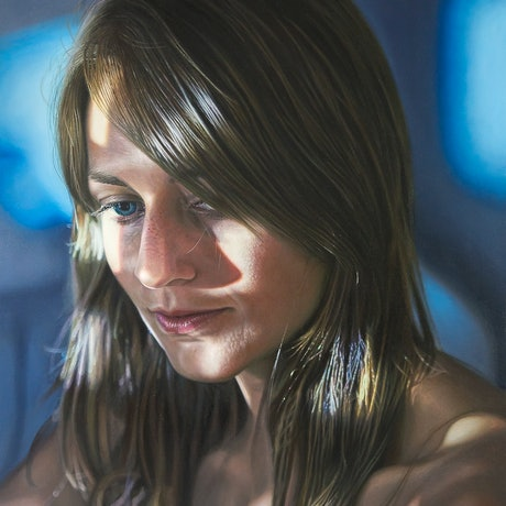 (CreativeWork) Introspection by Kellie Orr. Oil Paint. Shop online at Bluethumb.