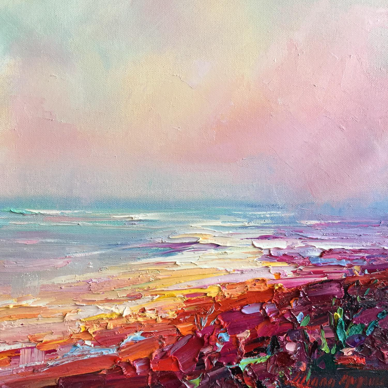 (CreativeWork) Summer vibes #6 by Liliana Gigovic. oil-painting. Shop online at Bluethumb.
