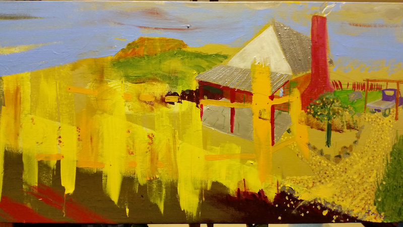 (CreativeWork) Who will fix the fence? by Shaun J Myles. arcylic-painting. Shop online at Bluethumb.
