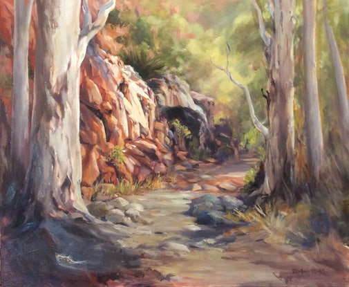 (CreativeWork) Solitude of the Ages by Robin Hicks. Oil Paint. Shop online at Bluethumb.