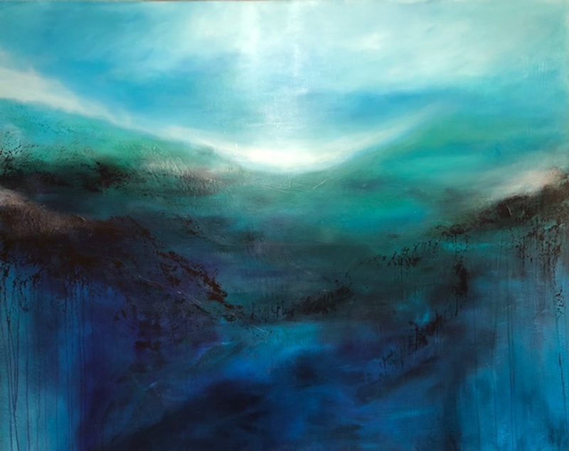 (CreativeWork) DAWN (large scale 1.5 meter wide)    by Kat Las. arcylic-painting. Shop online at Bluethumb.