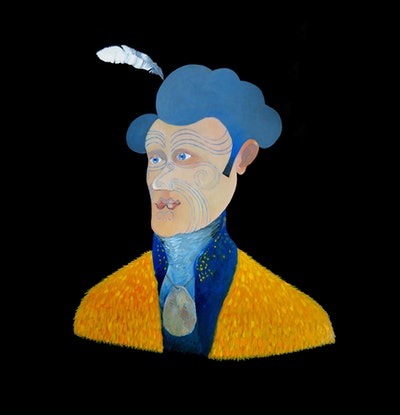 (CreativeWork) Captain Cook in New Zealand  by John Graham. Oil. Shop online at Bluethumb.