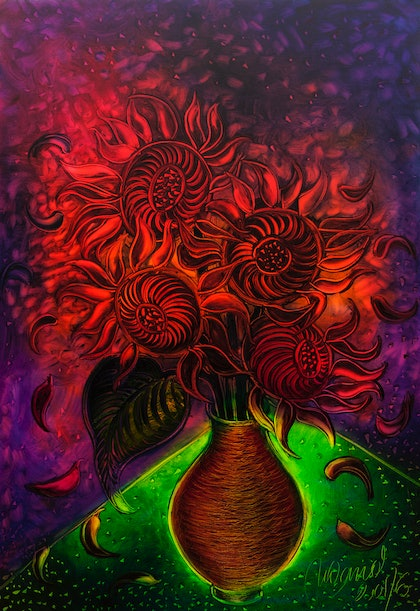 (CreativeWork) Harmony by Nelus Oana. oil-painting. Shop online at Bluethumb.