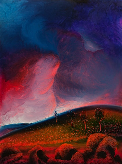 (CreativeWork) Before the storm by Nelus Oana. oil-painting. Shop online at Bluethumb.