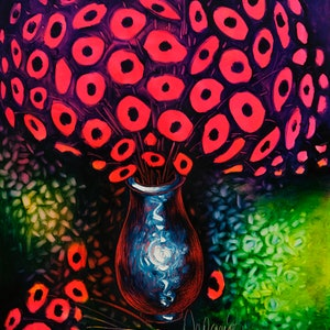(CreativeWork) Dream flowers by Nelus Oana. oil-painting. Shop online at Bluethumb.