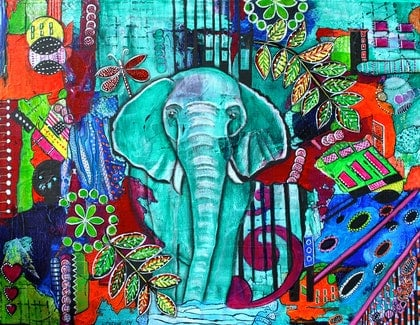 (CreativeWork) Wise Eli by Astrid Rosemergy. arcylic-painting. Shop online at Bluethumb.