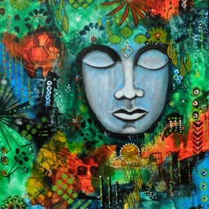 (CreativeWork) What we think, we become by Astrid Rosemergy. arcylic-painting. Shop online at Bluethumb.