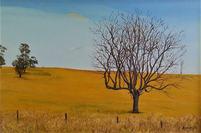 (CreativeWork) Elizabeth Town - Tasmania by Garry Arnephy. oil-painting. Shop online at Bluethumb.