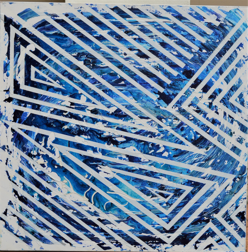 (CreativeWork) Blue Beyond  by Talisha Jones. mixed-media. Shop online at Bluethumb.