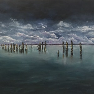 (CreativeWork) Before the Storm by Jayne Wise. arcylic-painting. Shop online at Bluethumb.