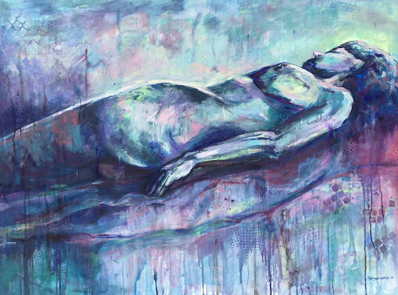 (CreativeWork) Sleeping Beauty by Patrycja Whipp. arcylic-painting. Shop online at Bluethumb.