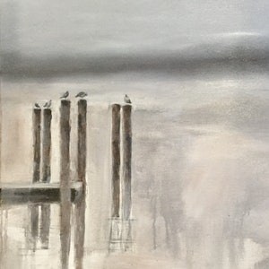 (CreativeWork) Silence by Jayne Wise. arcylic-painting. Shop online at Bluethumb.