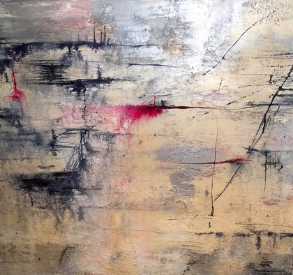 (CreativeWork) After The Fires by Jane McCumstie. mixed-media. Shop online at Bluethumb.