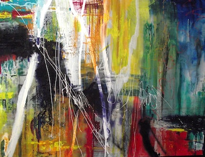 (CreativeWork) The Dance by Jane McCumstie. mixed-media. Shop online at Bluethumb.