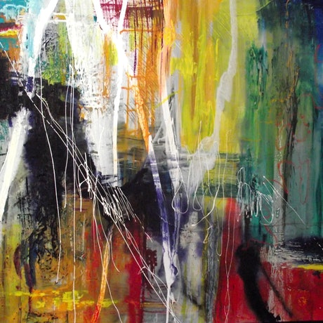(CreativeWork) The Dance by Jane McCumstie. Mixed Media. Shop online at Bluethumb.