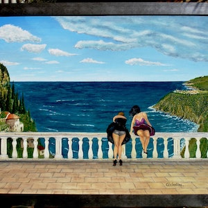 """(CreativeWork) A very """"NICE"""" view by Carlo Valentini. arcylic-painting. Shop online at Bluethumb."""