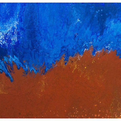 (CreativeWork) A Rugged Coast, 99-17 by Daphne de Jersey. Acrylic Paint. Shop online at Bluethumb.