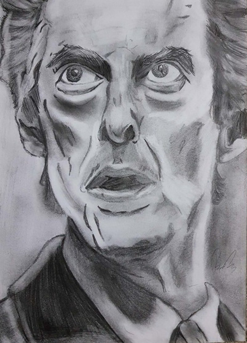 The Twelfth Doctor By Joshua Blackney Paintings For Sale Bluethumb